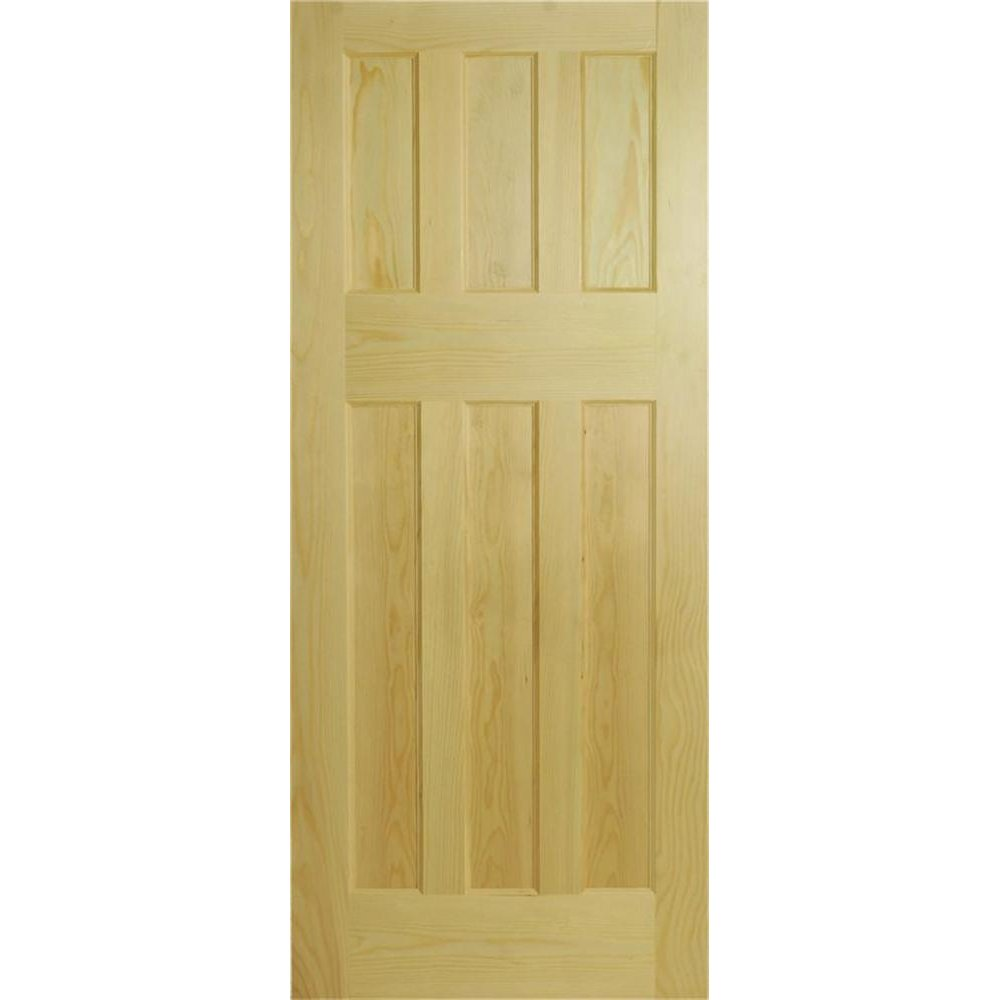 wooddoor internal untreated clear pine 6 panel 1930 door