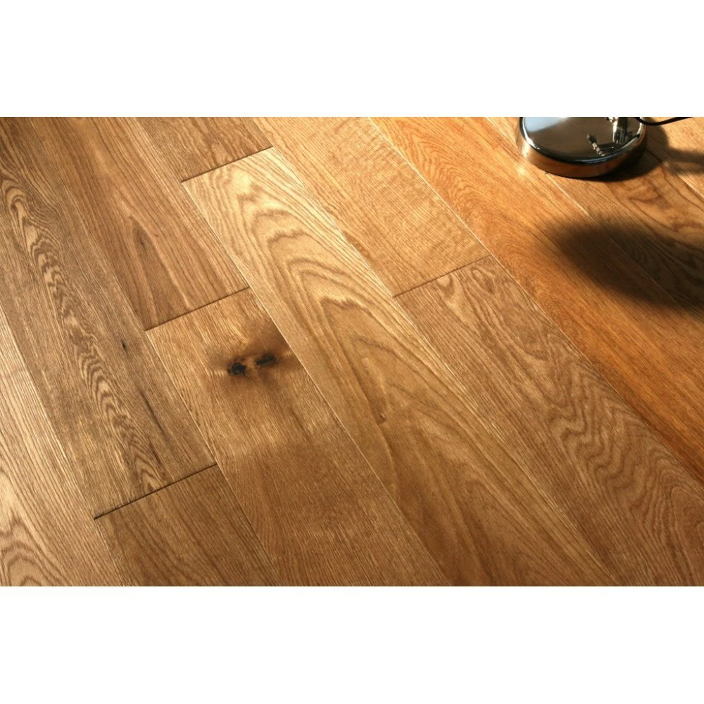 Wood flooring solid oak 18x120mm brushed and oiled rustic for Real solid wood flooring