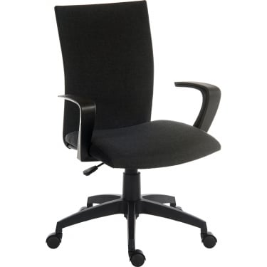 Work Black Student Chair with Nylon Base