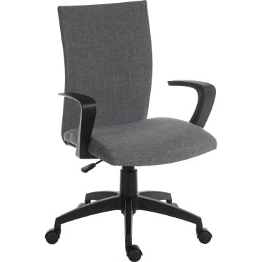Work Grey Student Chair with Nylon Base