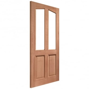 XL Joinery External Hardwood Un-finished Richmond Unglazed DoorMORTICE & TENON