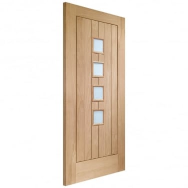XL Joinery Suffolk Unfinished Internal Oak Door With Obscure Glass