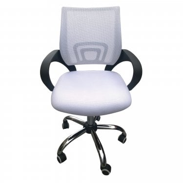 Zion Office Chair, White & Fabric Mesh