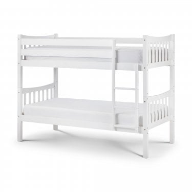Zodiac Bright White Single Bunk Bed